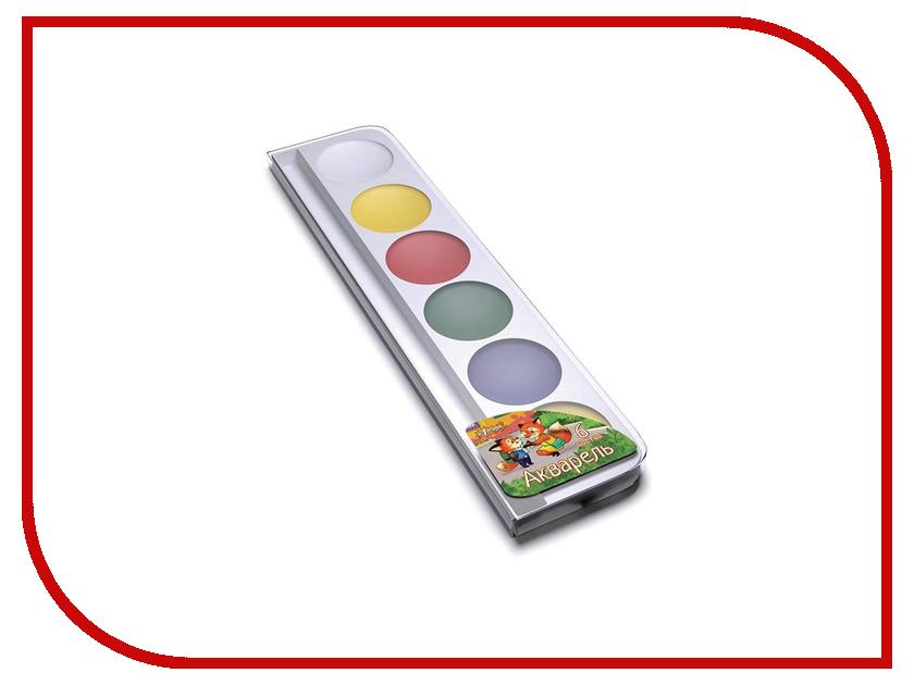 Краски акварельные №1 School Лисята 6 цветов 572605 краски herlitz краски акварельные 6 цветов