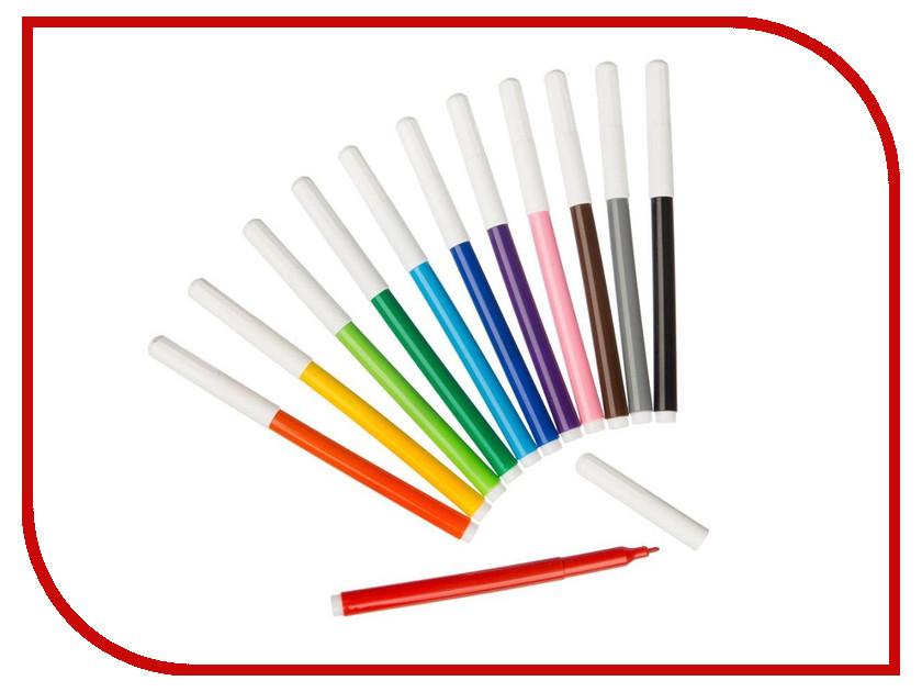 Фломастеры №1 School Лисята 12 цветов 541266 фломастеры crayola 12 цветов 58 8329