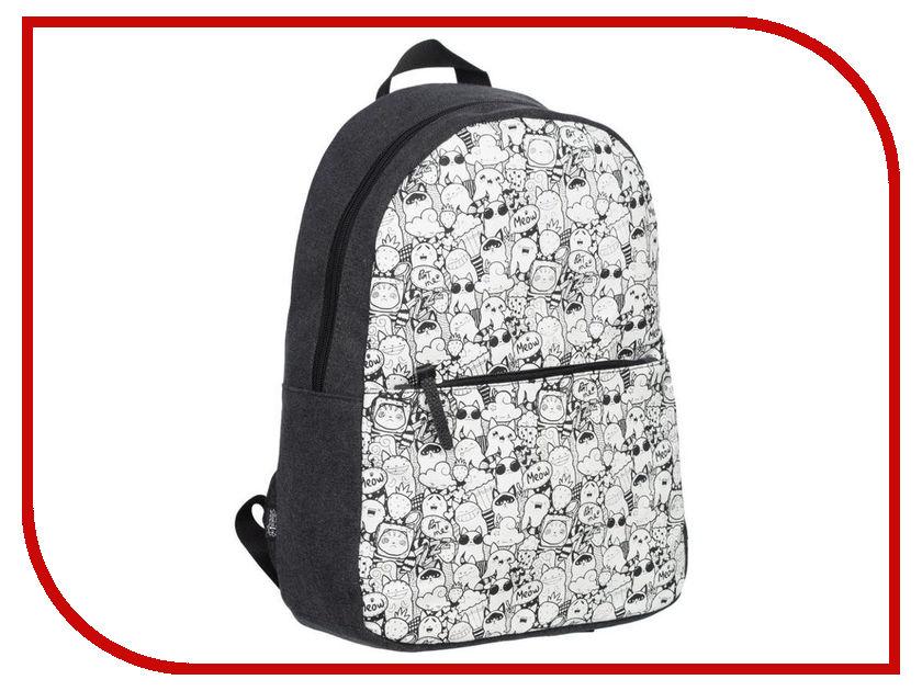 Рюкзак №1 School Doodles 678886 ozuko multi functional men backpack waterproof usb charge computer backpacks 15inch laptop bag creative student school bags 2018