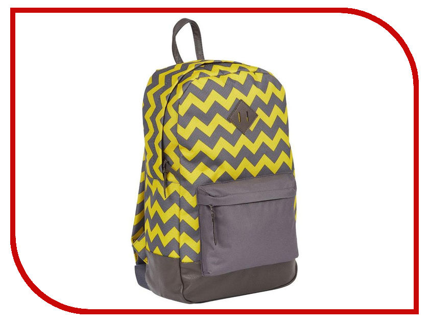 Рюкзак №1 School Зигзаг Grey-Yellow 678892 ozuko multi functional men backpack waterproof usb charge computer backpacks 15inch laptop bag creative student school bags 2018