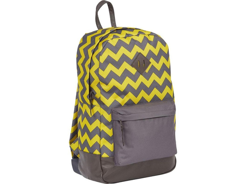 Рюкзак №1 School Зигзаг Grey-Yellow 678892