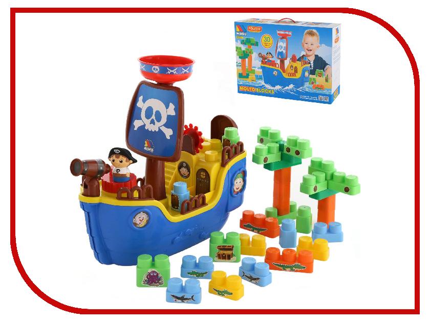 Игрушка ПолесьеПиратский корабль + конструктор 62246 игрушка интерактивная redwood пиратский корабль призрак