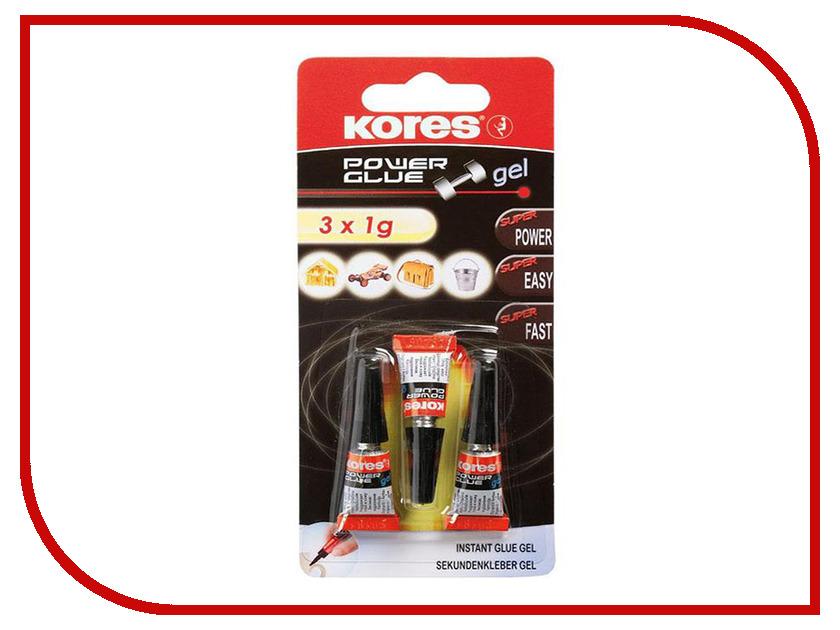 Клей Kores 1g 3шт 184522 маркер kores 1mm red 282355