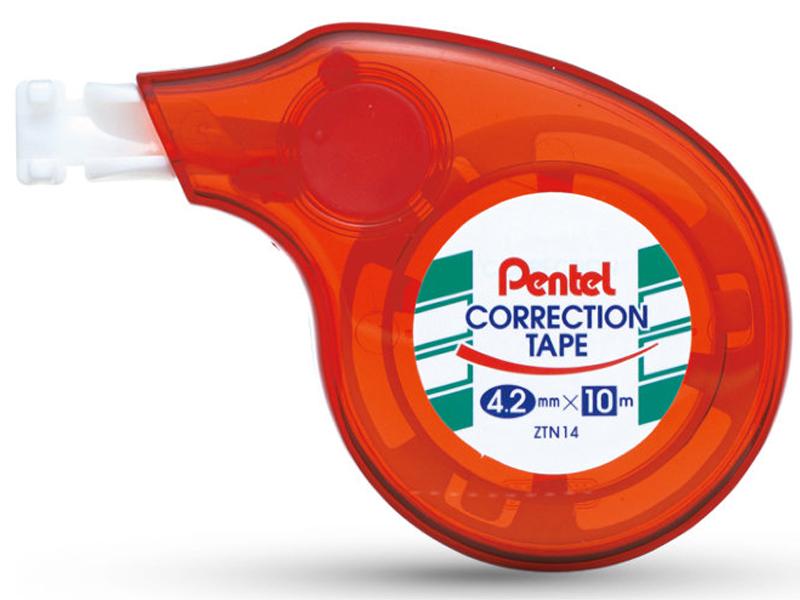 Корректирующая лента Pentel Red XZTN14B-W