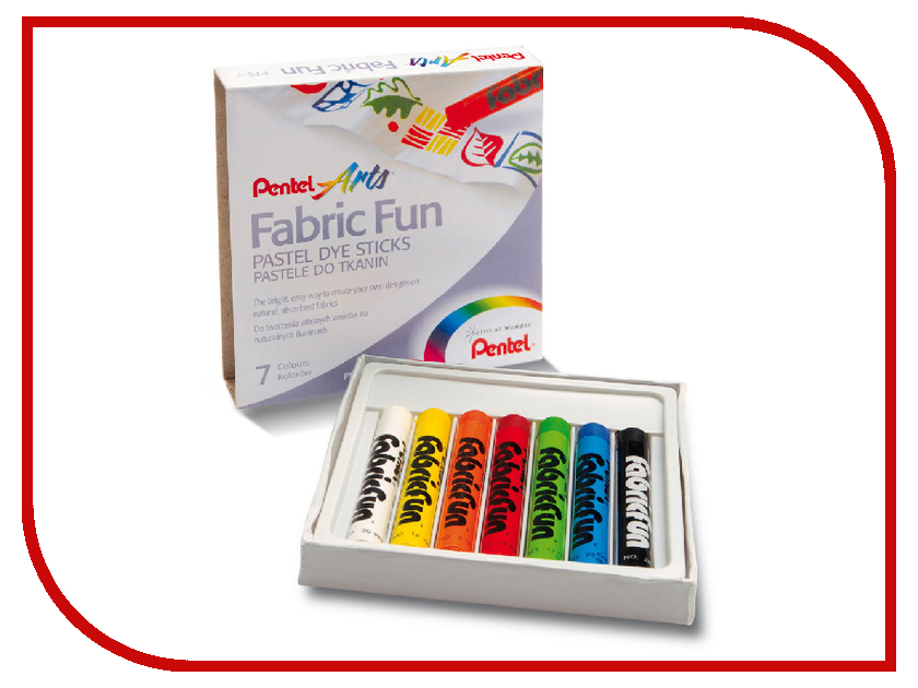 цена на Пастель для ткани Pentel Fabric Fun 7 цветов PTS-7