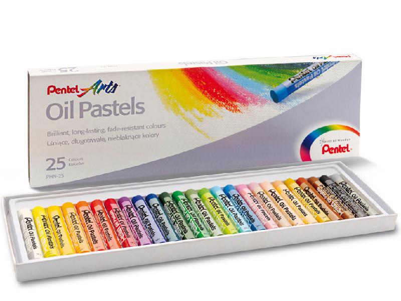 Пастель масляная Pentel Oil Pastels 25 цветов PHN4-25