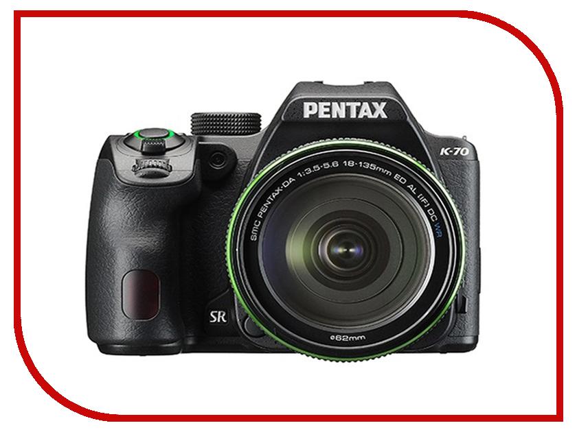 Фотоаппарат Pentax K-70 Kit DA 18-135mm WR Black купить sigma 18 200 мм для pentax