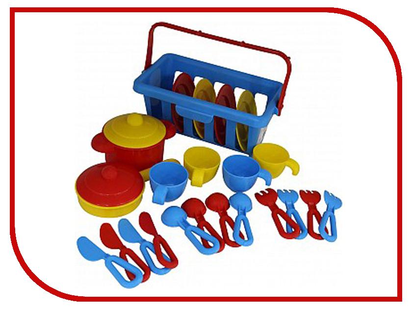 Игра ПолесьеНабор детской посуды TOP Chef с корзинкой №2 42651 игра ecoiffier chef набор посуды с сушилкой 2619