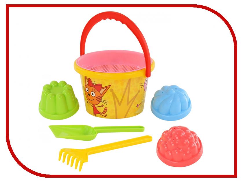 Игрушка ПолесьеПесочный набор Три кота №3 62338 игрушки для зимы росигрушка песочный набор транспорт 3 л дорожный патруль
