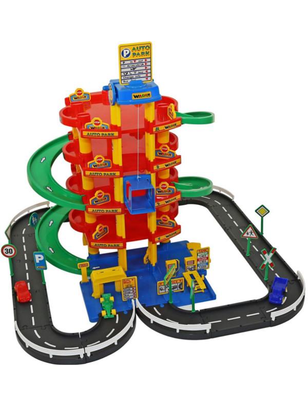 Игрушка Паркинг Полесье5-уровневый с дорогой и автомобилями 38104