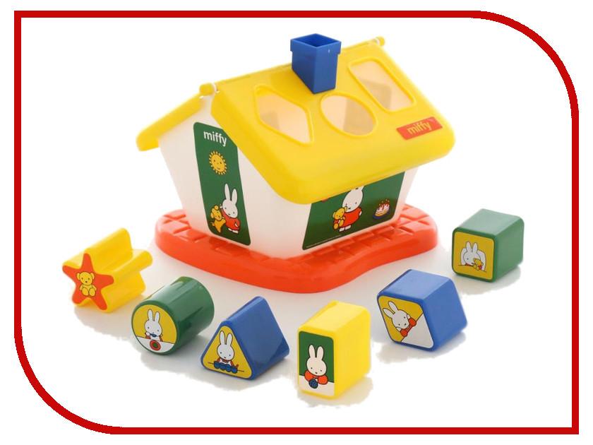 Сортер Полесье Логический домик Миффи с 6 кубиками №1 64264