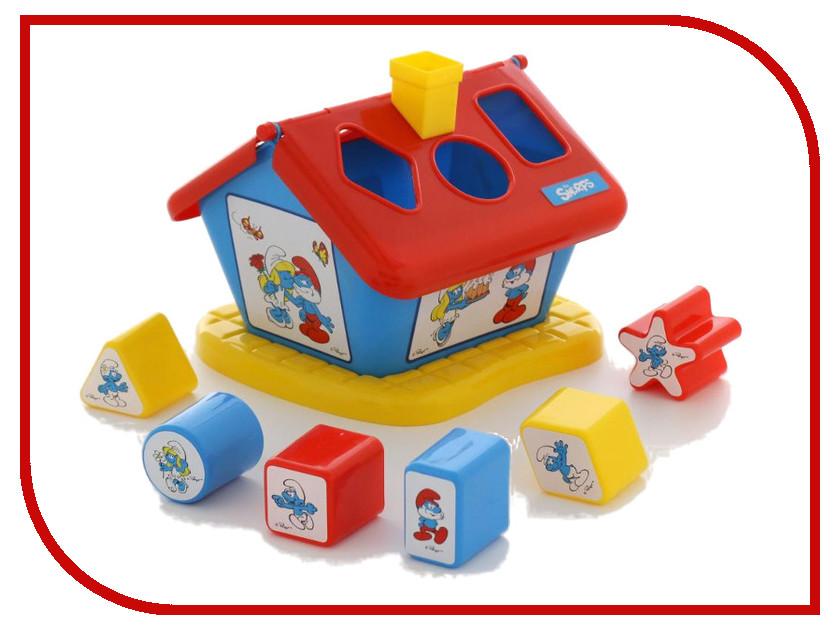 Сортер Полесье Логический домик Смурфики с 6 кубиками №1 64417