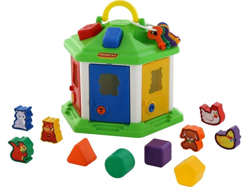 Сортер Полесье Логический домик №2 62307 каталка сортер полесье игровой дом