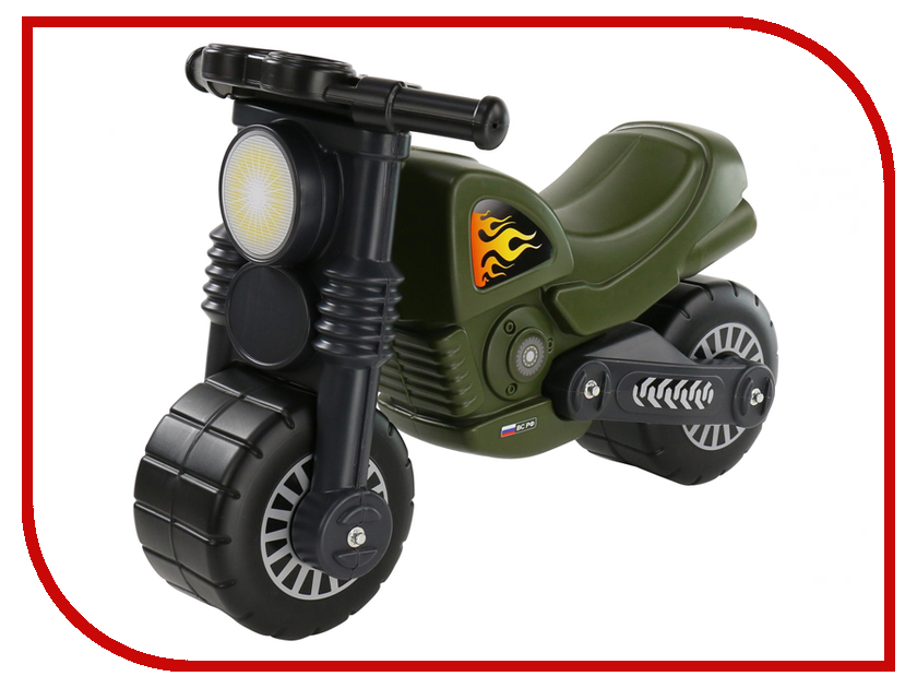 Каталка Полесье Мотоцикл Моторбайк военный 48738 полесье каталка мотоцикл фантом