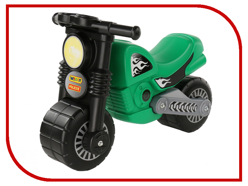 Каталка Полесье Мотоцикл Моторбайк Green 66282 каталка детская полесье полесье каталка мотоцикл мх