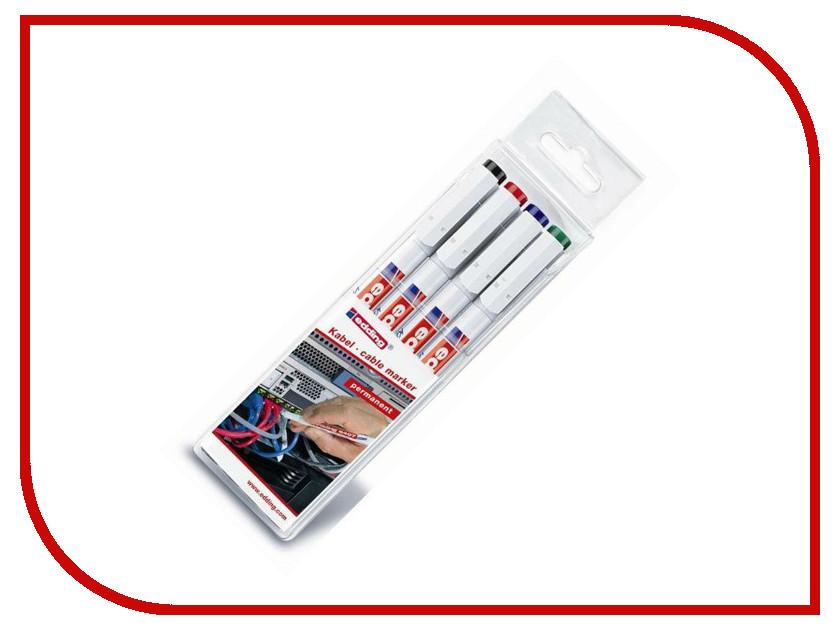 Маркер Edding E-8407/S 0.3mm набор 4шт 263503 dorothy s нome плейсмат набор 4шт принт петухи пвх