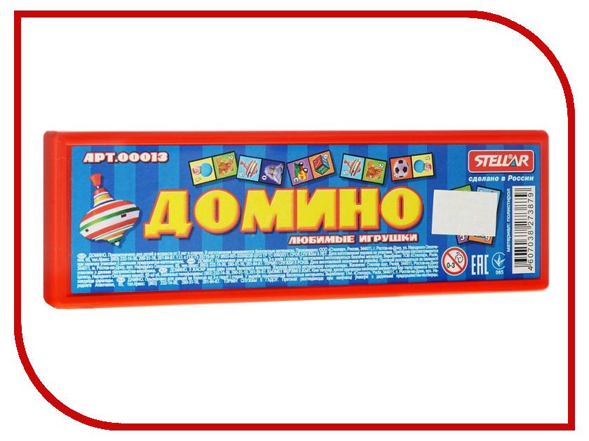 Настольная игра Stellar Домино в футляре №13 Любимые игрушки stellar настольная игра гонки в пустыне 01106