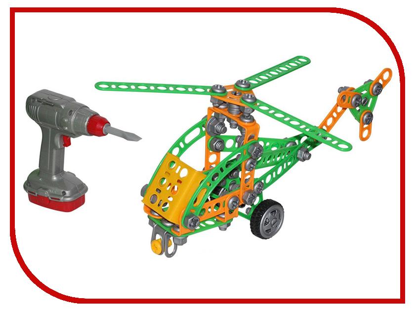 Конструктор Полесье Изобретатель - Вертолёт №1 130 дет. 55224 полесье изобретатель качели 122 эл