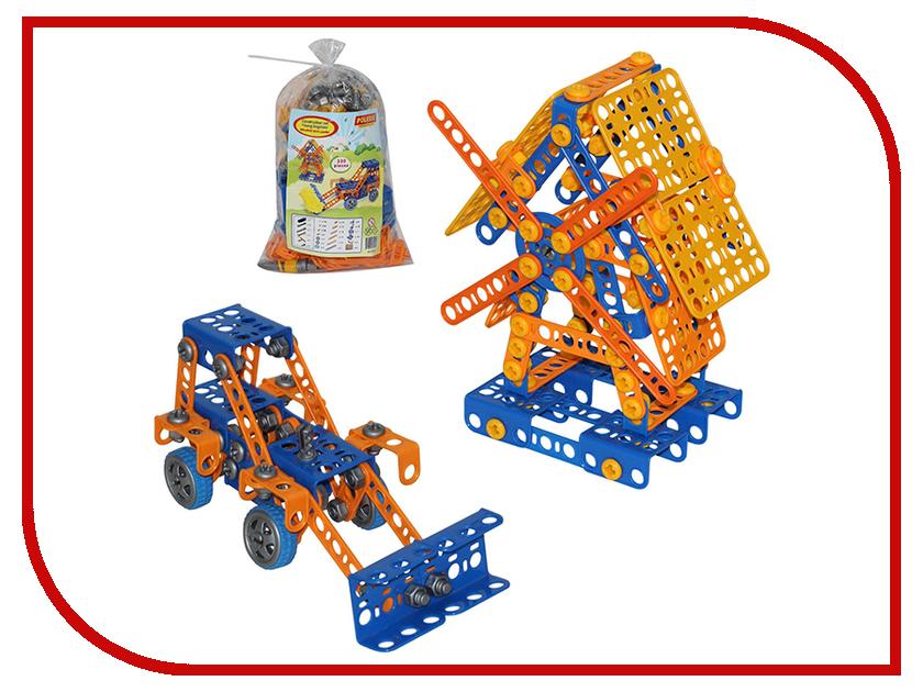 Конструктор Полесье Изобретатель - Мельница №2 + Трактор-погрузчик №1 330 дет. 55132