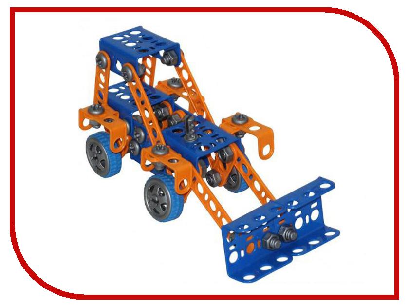 Конструктор Полесье Изобретатель - Трактор-погрузчик №1 142 дет. + шуруповёрт 58119