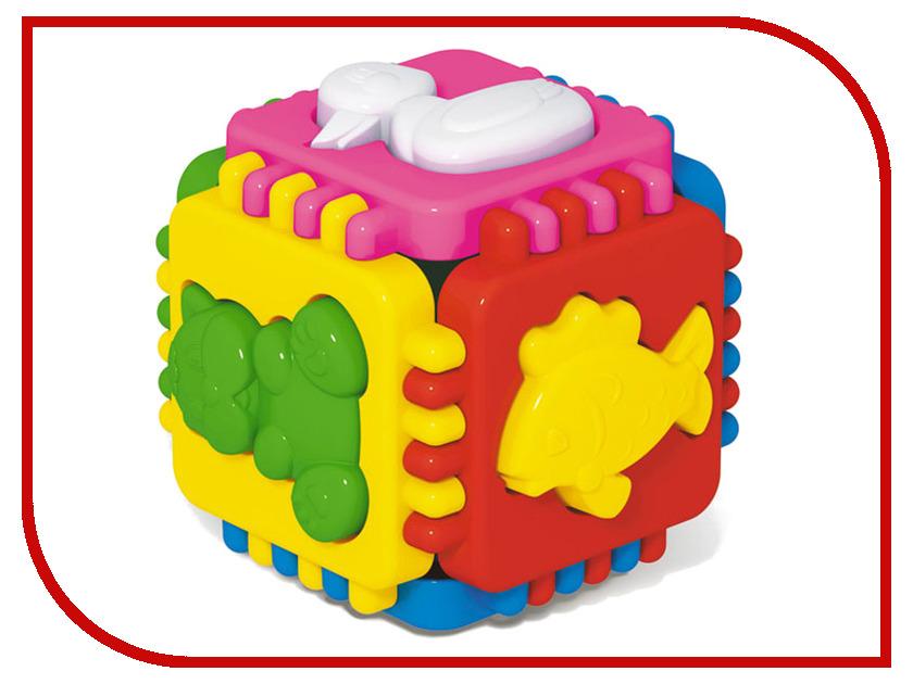 Сортер Stellar Логический куб Веселые зверята 1326 машинки balbi веселые зверята