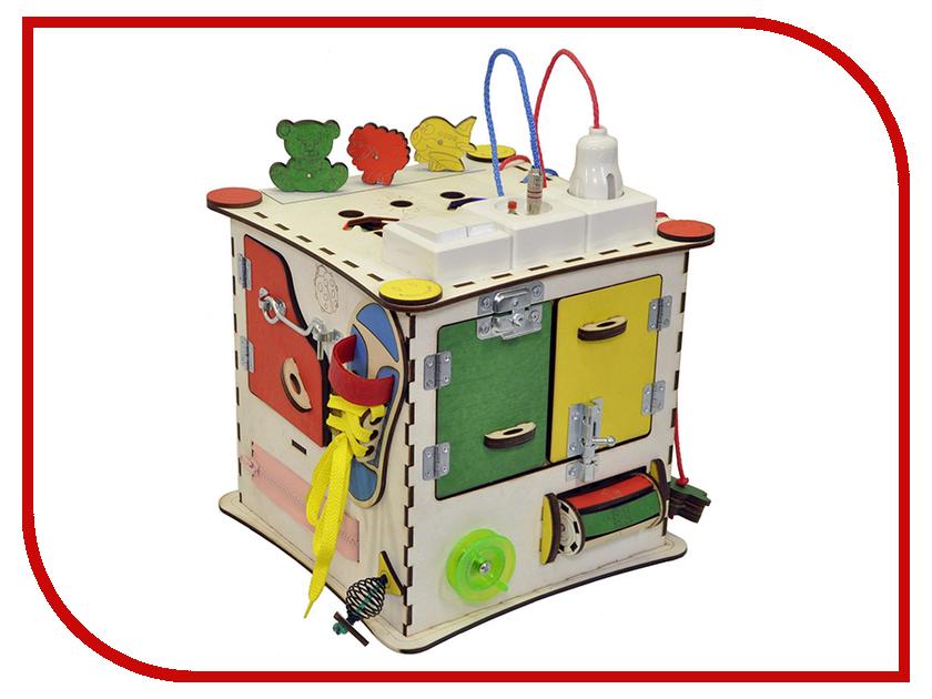 Бизиборд Iwoodplay Куб с электрикой 25x25x25cm головоломки elc интерактивный развивающий куб