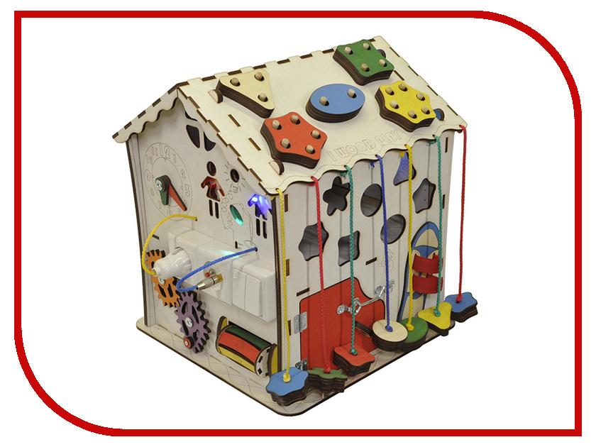 Бизиборд Iwoodplay Домик с электрикой 30x30x40cm