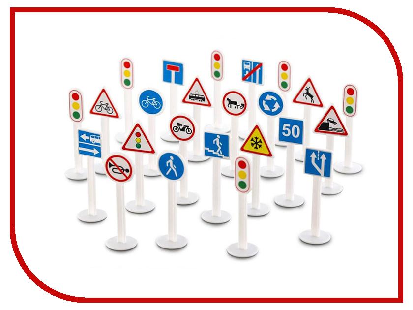 Игрушка ПолесьеНабор дорожных знаков №3 64219 полесье игрушка лейка малая 3