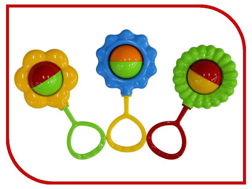 Погремушка ПолесьеНабор погремушек Цветочек (3 шт) 45638 набор игрушек погремушек малышарики 10 шт