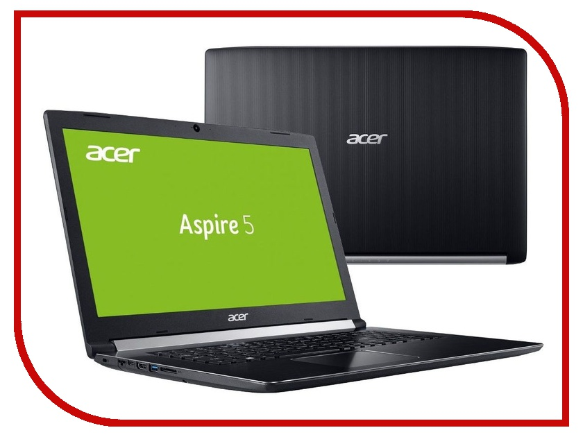 Ноутбук Acer Aspire 5 A517-51G-57H9 Black NX.GSTER.004 (Intel Core i5-7200U 2.5 GHz/8192Mb/1000Gb/DVD-RW/nVidia GeForce 940MX 2048Mb/LAN/Wi-Fi/Cam/17.3/1920x1080/Linux) yunda yunda 6 replacement 90w 4 74a ac power adapter for acer aspire 3020 black 5 5mm x 1 7mm