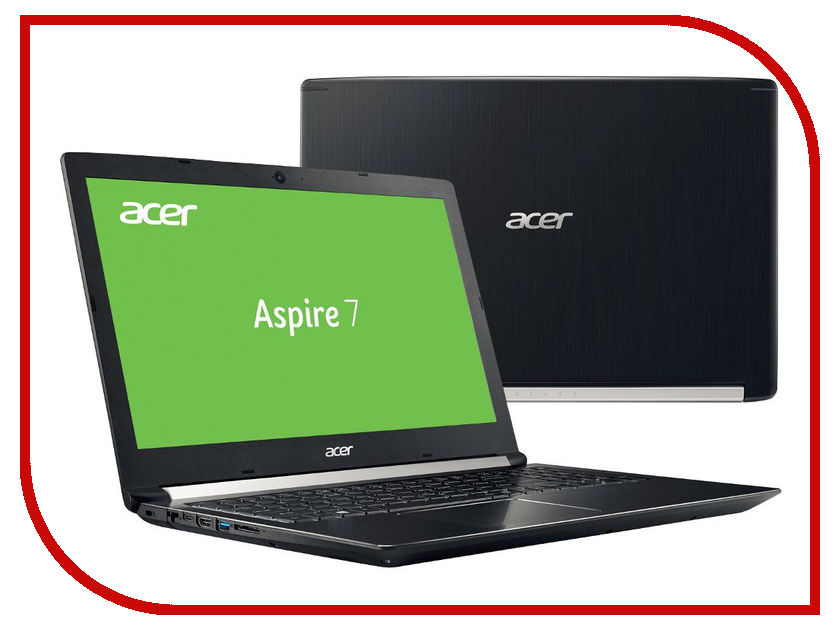 Ноутбук Acer Aspire 7 A715-71G-59UZ Black NX.GP8ER.013 (Intel Core i5-7300HQ 2.5 GHz/6144Mb/500Gb+128Gb SSD/nVidia GeForce GTX 1050 2048Mb/LAN/Wi-Fi/Cam/15.6/1920x1080/Windows 10 Home 64-bit) for acer aspire v3 772g notebook pc heatsink fan fit for gtx850 and gtx760m gpu 100% tested