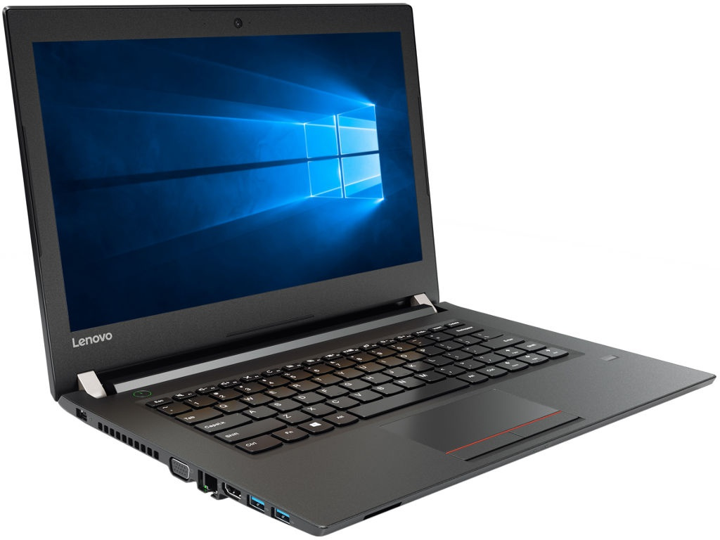 Ноутбук Lenovo V510-14IKB Black 80WR0153RK (Intel Core i5-7200U 2.5 GHz/4096Mb/256Gb SSD/DVD-RW/Intel HD Graphics/LAN/Wi-Fi/Bluetooth/Cam/14.0/1920x1080/Windows 10 Pro 64-bit) цена