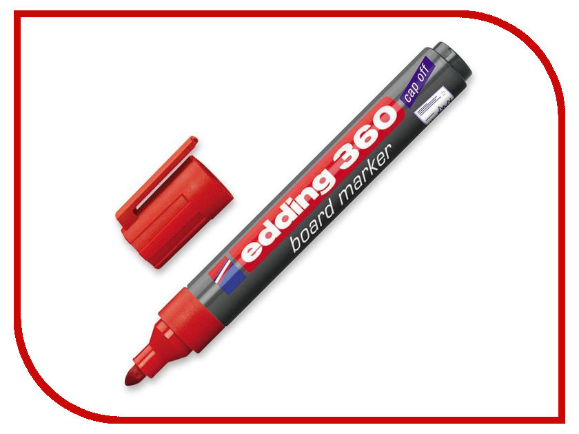 Маркер Edding e-360/2 1.5-3mm Red edding e 330 1 b 2