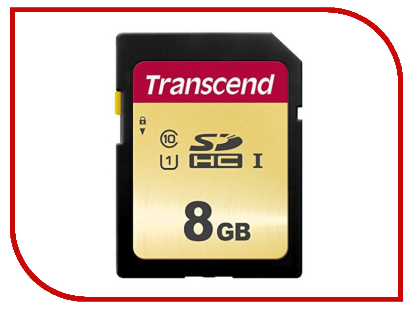 Карта памяти 8Gb - Transcend 500S SDHC I Clase 10 UHS-I U1 TS8GSDC500S laser head dwy1069 cdj 100s 500s 700s