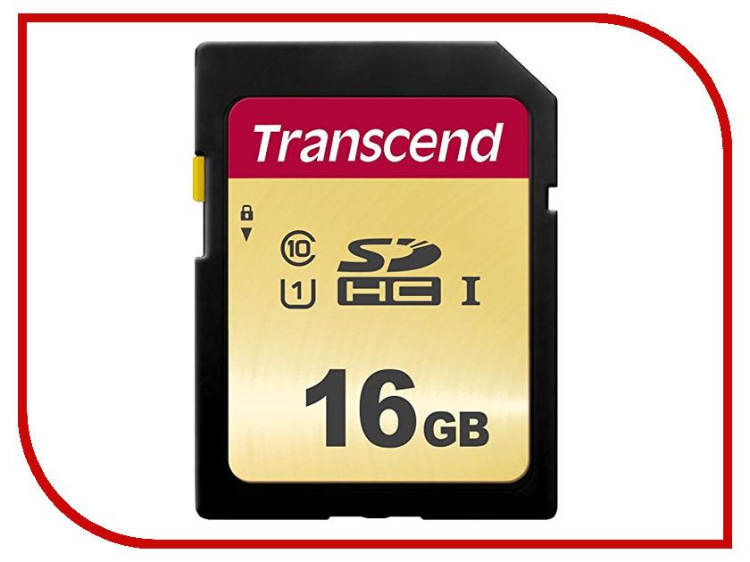 Карта памяти 16Gb - Transcend 500S SDHC I Clase 10 UHS-I U1 TS16GSDC500S карта памяти micro sdhc 16gb class 10 uhs i qumo qm16gmicsdhc10u1 sd adapter