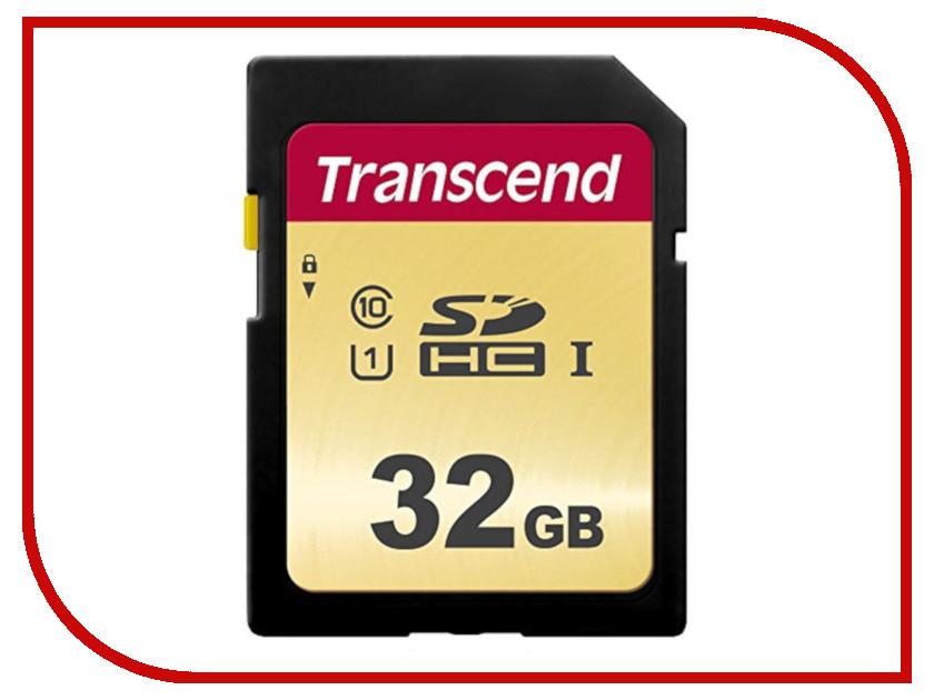 Карта памяти 32Gb - Transcend 500S SDHC I Clase 10 UHS-I U1 TS32GSDC500S bdf 500s