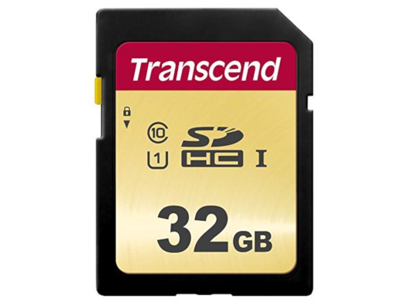 Карта памяти 32Gb - Transcend 500S SDHC I Clase 10 UHS-I U1 TS32GSDC500S