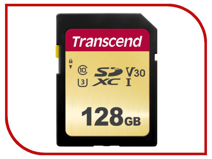 Карта памяти 128Gb - Transcend 500S SDXC I Clase 10 UHS-I U3 V30 TS128GSDC500S bdf 500s