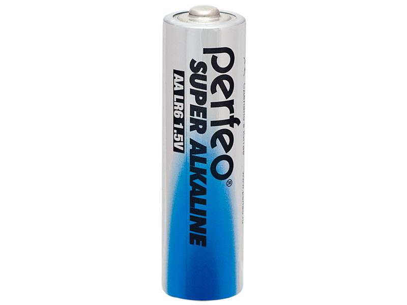 Батарейка AA - Perfeo LR6/2BL mini Super Alkaline (2 штуки) батарейка aa perfeo lr6 4bl super alkaline 4 штуки