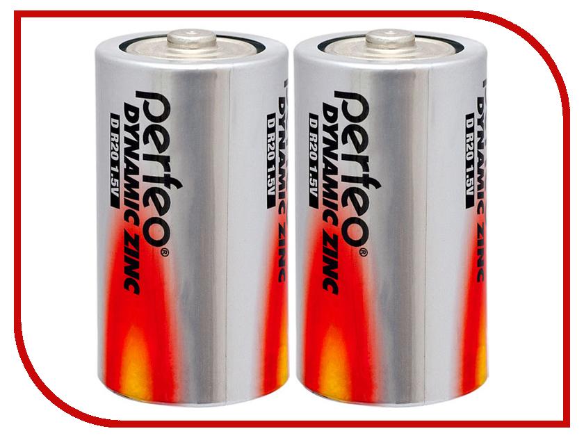 Батарейка Perfeo R20/2BL Dynamic Zinc (2 штуки) батарейка perfeo r20 2bl dynamic zinc 2 штуки