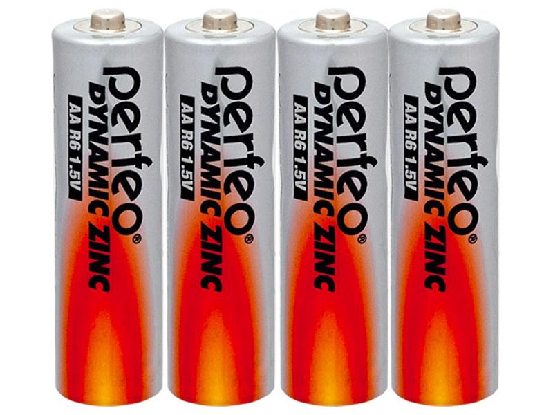 Батарейка Perfeo R6/4SH Dynamic Zinc (4 штуки)