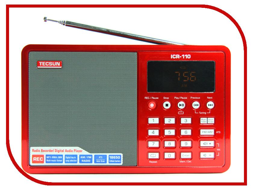 Радиоприемник Tecsun ICR-110 Red tecsun приемник типа pl 398mp