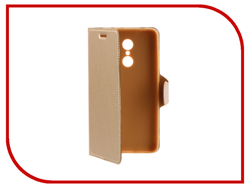 Аксессуар Чехол-книжка Xiaomi Redmi 5 Red Line Book Type Gold УТ000013544