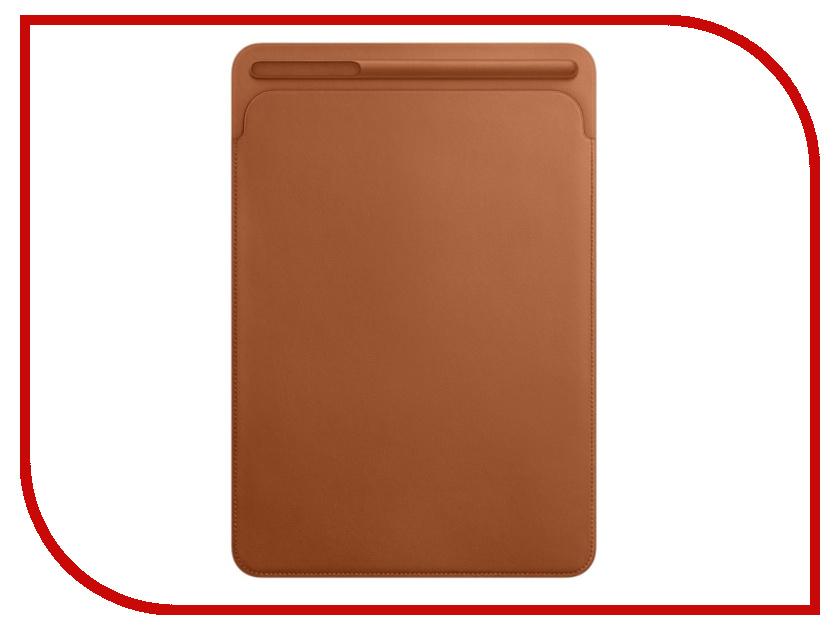 Аксессуар Чехол APPLE iPad Pro 10.5 Leather Sleeve Saddle Brown MPU12ZM/A цена