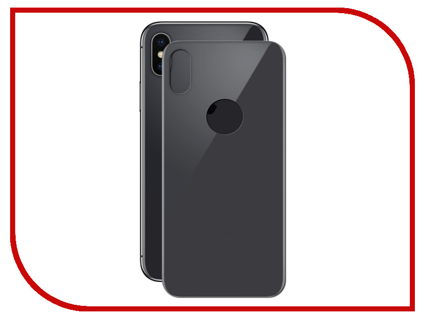 Аксессуар Защитное стекло Red Line для APPLE iPhone X Full Screen 3D Tempered Glass Black задняя часть