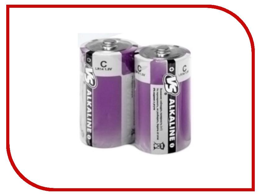 Батарейка C - VS LR14/2SH Alkaline (2 штуки) батарейка perfeo r20 2bl dynamic zinc 2 штуки