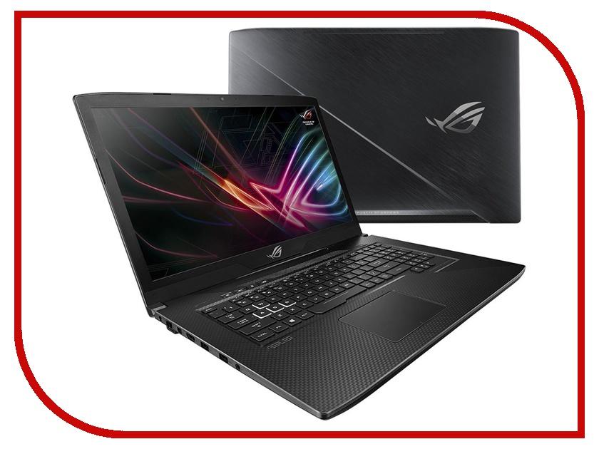 Ноутбук ASUS GL703GE-EE040T Gunmetal 90NR00D1-M00540 (Intel Core i7-8750H 2.2 GHz/16384Mb/1000Gb+128Gb SSD/nVidia GeForce GTX 1050 Ti 4096Mb/Wi-Fi/Bluetooth/Cam/17.3/1920x1080/Windows 10 Home 64-bit) ноутбук acer predator ph317 51 77er nh q2mer 007 intel core i7 7700hq 2 8 ghz 16384mb 1000gb 128gb ssd nvidia geforce gtx 1050 ti 4096mb wi fi bluetooth cam 17 3 1920x1080 windows 10
