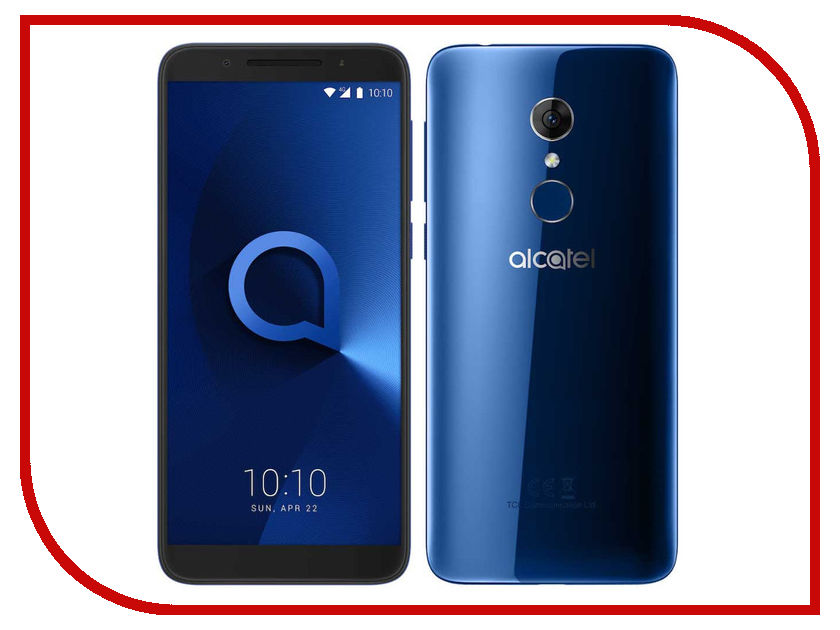Сотовый телефон Alcatel 3 5052D Spectrum Blue сотовый телефон maxvi c20 blue