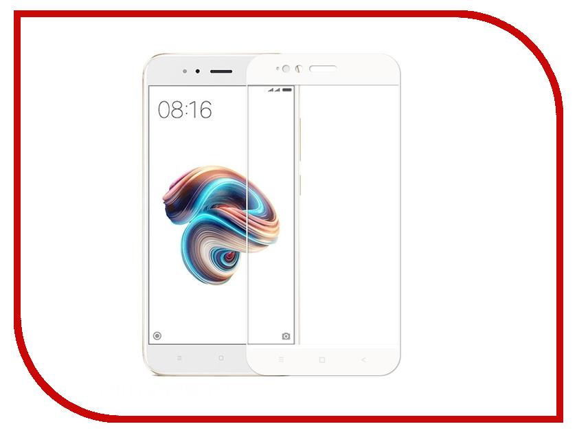 Аксессуар Защитное стекло для Xiaomi Mi A1 Onext White Frame 41486