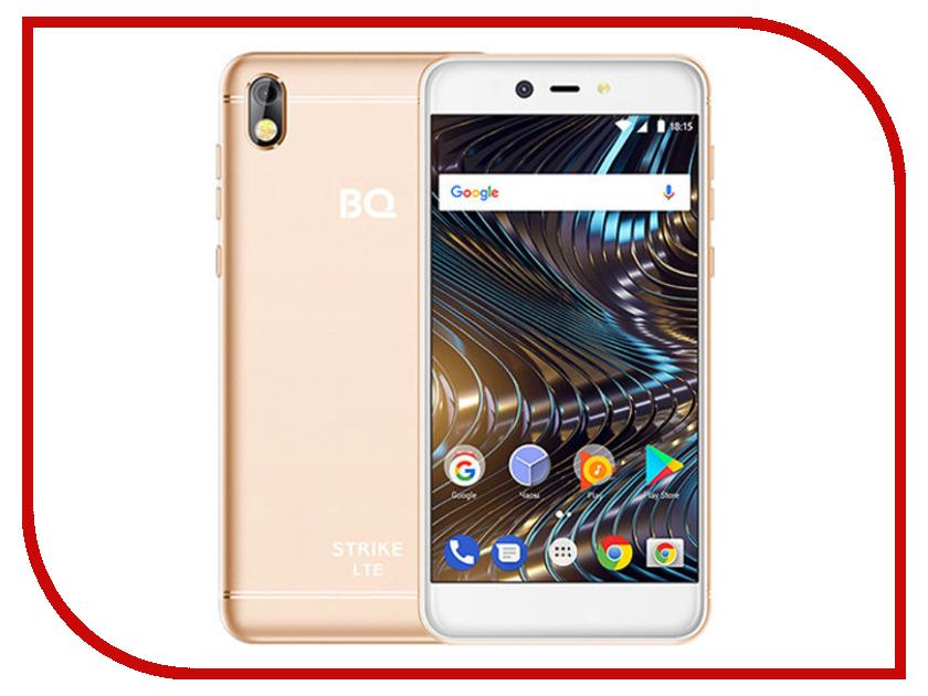 Сотовый телефон BQ 5209L Strike LTE Gold смартфон bq 5044 strike lte